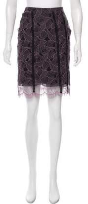 Versus Lace Knee-Length Skirt