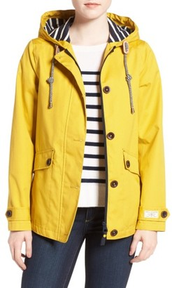 Women's Joules Right As Rain Waterproof Hooded Jacket $139.95 thestylecure.com