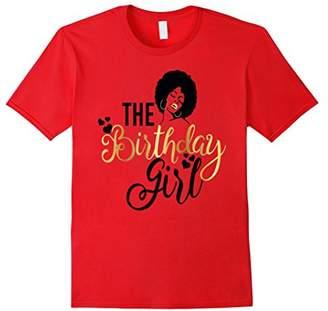 Black Girl Magic Birthday Girls Shirt Gold Party Gift