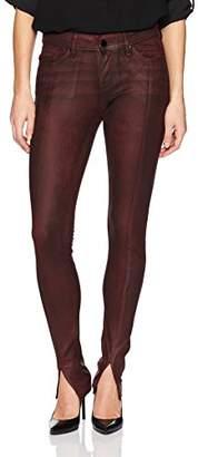 William Rast Women's Kate Moto 5 Pocket Skinny Jean with Front Hem Slit