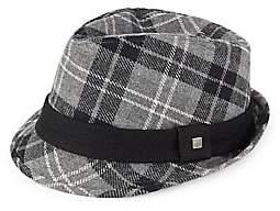 Cartier Block Headwear Block Headwear Men's Plaid Wool Fedora