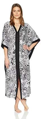 Ellen Tracy Women's Long Butterfly Caftan