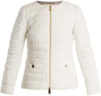 Herno High-neck quilted-bouclé jacket