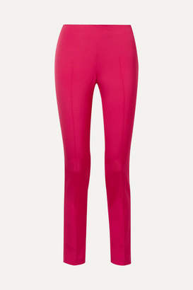 Akris Melissa Stretch-mulberry Silk Slim-leg Pants