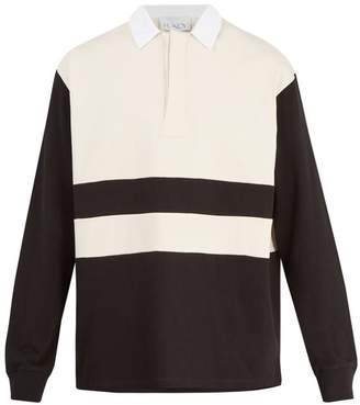 Raey - Long Sleeved Cotton Jersey Rugby Shirt - Mens - Black Stripe