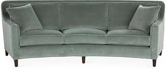 Caymen Curved Sofa - Sage Velvet - Miles Talbott