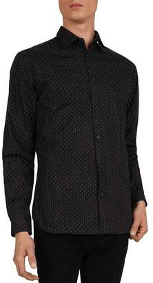 The Kooples Symetric Lines Slim Fit Shirt