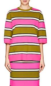 Marc Jacobs Women's Striped Cashmere Sweater - Pink