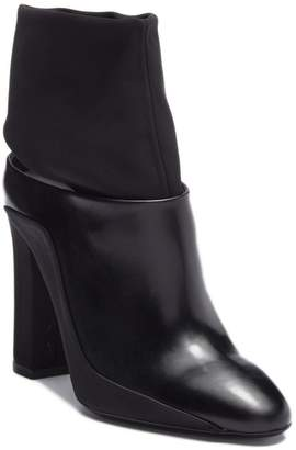 Via Spiga Agyness Leather Cutout Ankle Bootie