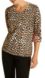 Marina Rinaldi Acropoli Leopard Print Sweater