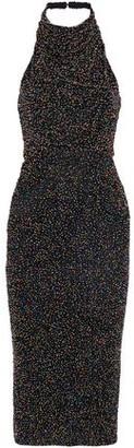 Cushnie et Ochs Piper Beaded Cotton-Mesh Midi Dress