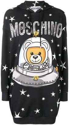 Moschino printed hooded dress