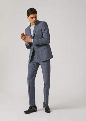 Emporio Armani Slim Fit Suit In Tropical Wool