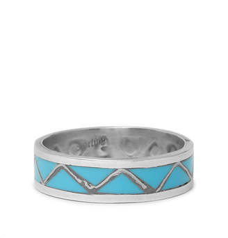 Foundwell 1980s Silver Turquoise Ring