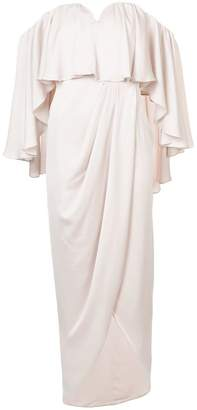 Shona Joy frill sleeves wrap skirt dress
