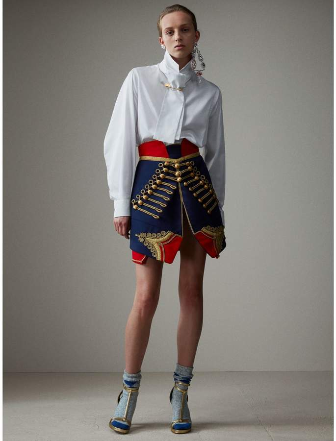 Burberry Regalia Detail Wool Ceremonial Skirt
