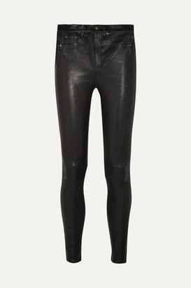 Rag & Bone High-rise Leather Skinny Pants - Black