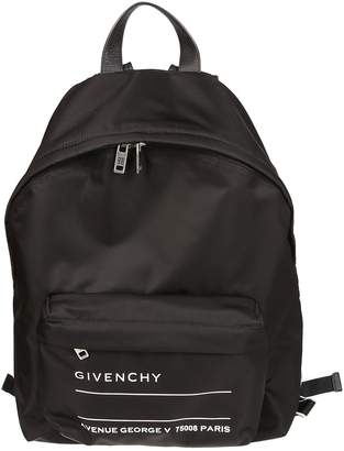 Givenchy Text Logo Backpack
