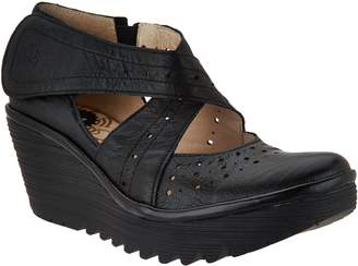 Fly London Leather Cross-strap Mary Janes - Yepe