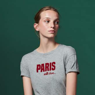 Sandro Short-sleeved slogan T-shirt