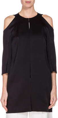 Roland Mouret Cassels 3/4-Sleeve Duster Coat, Black