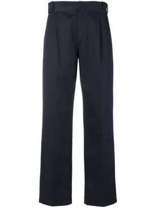 Gosha Rubchinskiy structured high waisted trousers