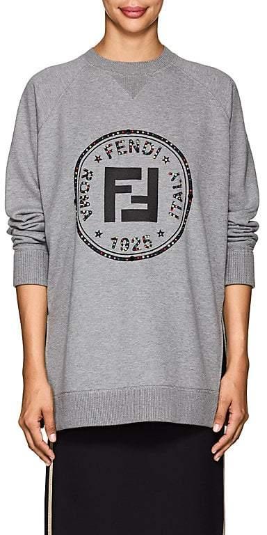 Women's Rhinestone-Embellished Logo Cotton Sweatshirt