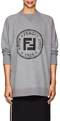 Fendi Women's Rhinestone-Embellished Logo Cotton Sweatshirt