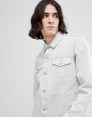 Asos Design DESIGN denim jacket in ecru