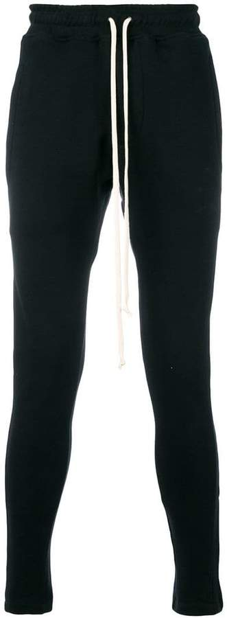 Represent drawstring waist track pants