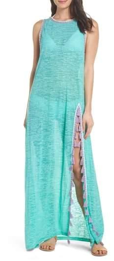 Tassel Slit Cover-Up Maxi Dress