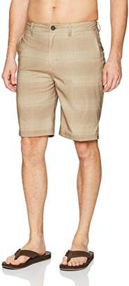 Quiksilver Men's Everyday Plaid Amphibian 21 Hybrid Short