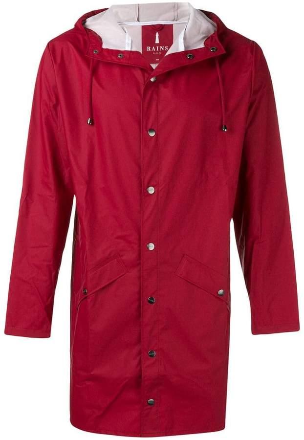 water-resistant hooded coat