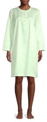Miss Elaine Scalloped Crewneck Nightgown