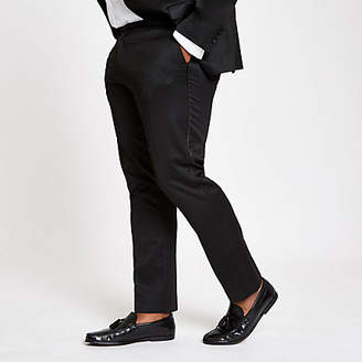 River Island Big and Tall black skinny suit pants