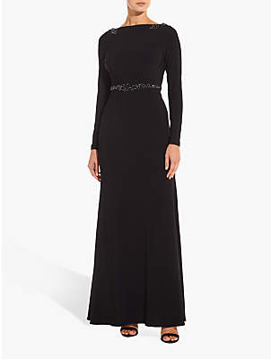 Adrianna Papell Long Embellished Jersey Dress