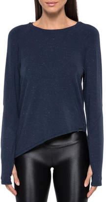 Koral Activewear Glance Long-Sleeve Asymmetrical Tee