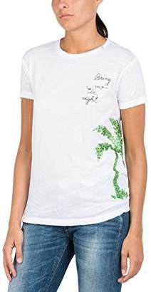 Replay (リプレイ) - [リプレイ] コットンジャージーTシャツ レディース W3959H.000.22060G ホワイト EU S (日本サイズM相当)