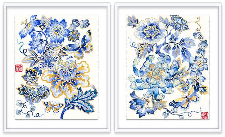 Fantasy Floral Diptych - Gabby Malpas - 25