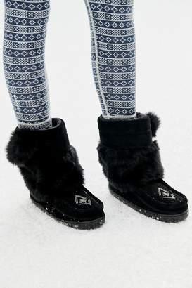 Manitobah Faux Fur Half Mukluk With Pompoms