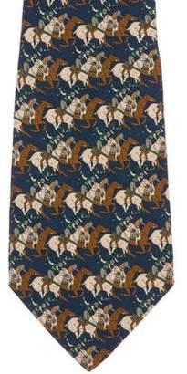 Salvatore Ferragamo Equestrian Silk Tie