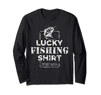 Lucky Fishing Do Not Wash Cool Fisherman Long Sleeve Shirt