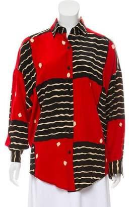 Ellen Tracy Linda Allard Silk Pattern Blouse