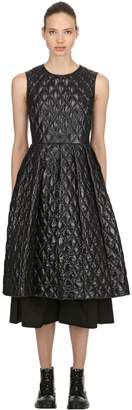 Moncler 6 Noir Quilted Backless Dress