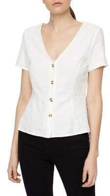 Vero Moda Manna Short-Sleeve Button-Down Shirt