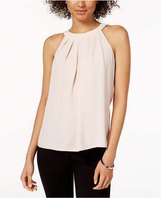 Nine West Pleated Halter Top