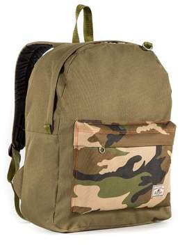 Everest Classic Color Block Backpack, Olive/Camo, One size