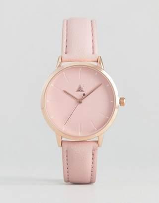 Asos Debossed Marker Pink Tonal Watch