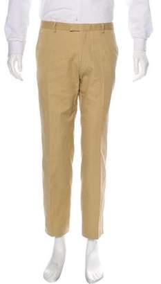 Dries Van Noten Flat Front Twill Pants