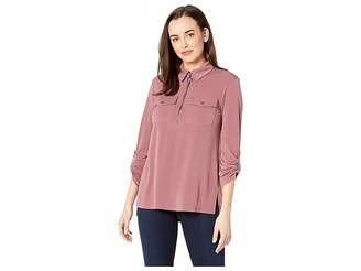 Kenneth Cole New York Zip-Up Front Blouse